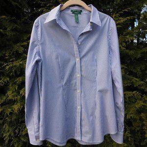Ralph Lauren Slim Fit Striped Buttondown Top